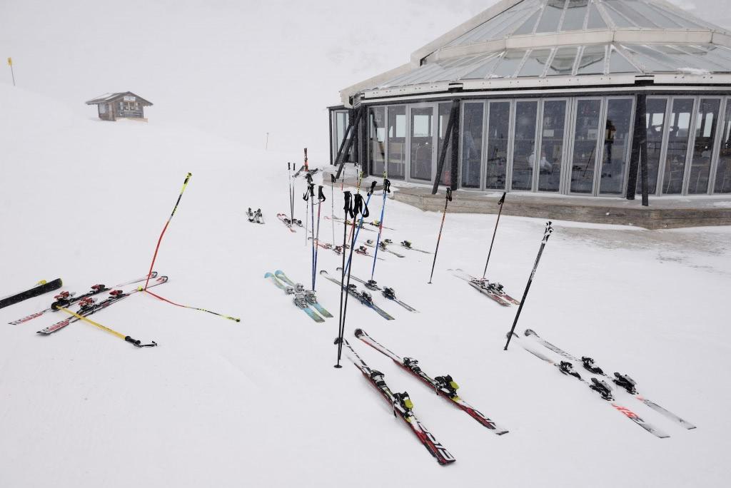 半山腰的滑雪基地